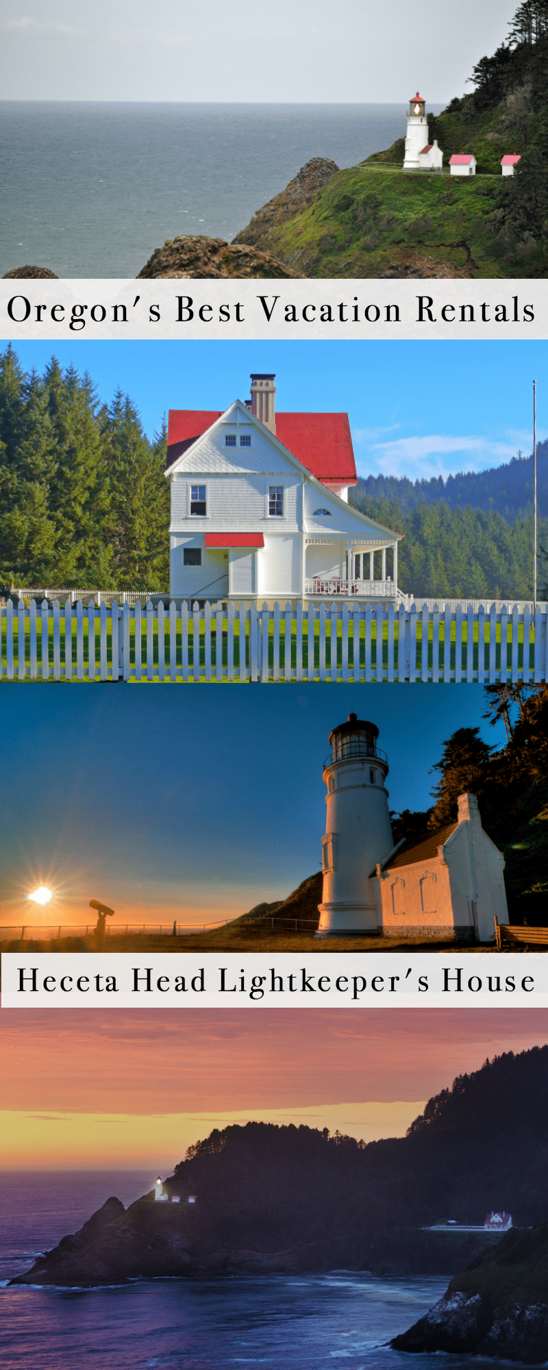 The Best Vacation Rentals in Oregon: Heceta Head Lighthouse