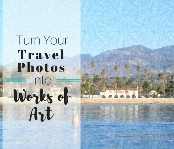 This app lets you turn travel photos into works of art