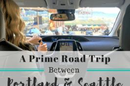 Prius prime road trip between Portland Seattle