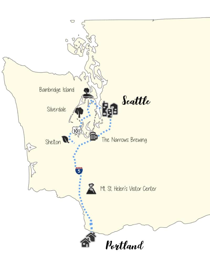 A Prime Roadtrip between Portland and Seattle