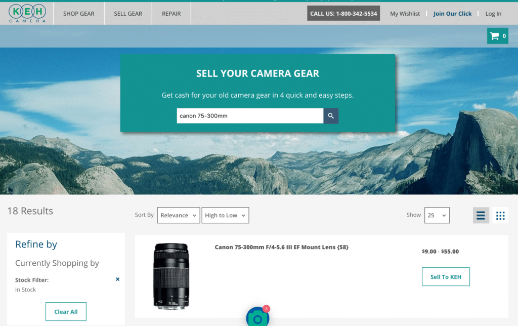 How To Sell Camera Gear Online - KEH Selling Process