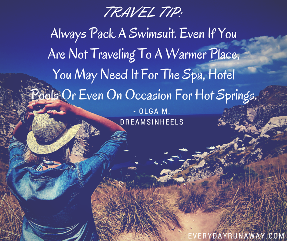 Travel Tip: Swimsuit