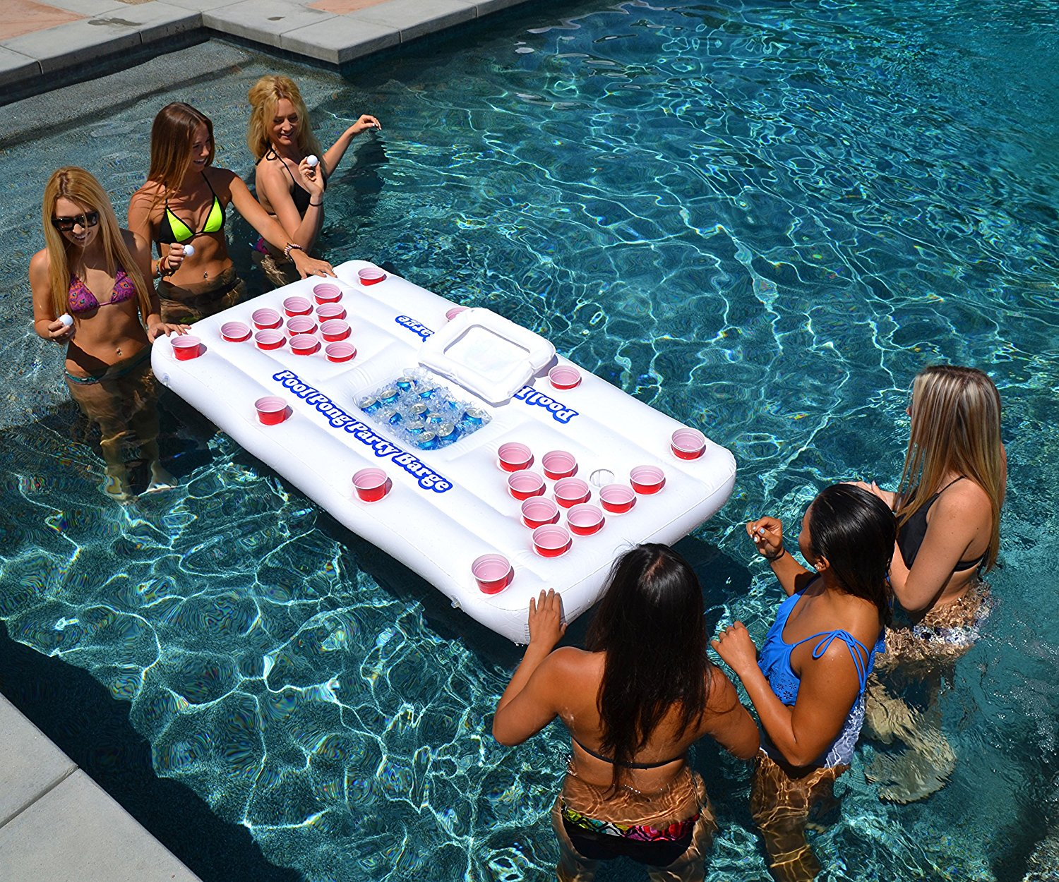 Floating Beer Pong Table - The most Instagram worthy Pool Floats Summer 2017